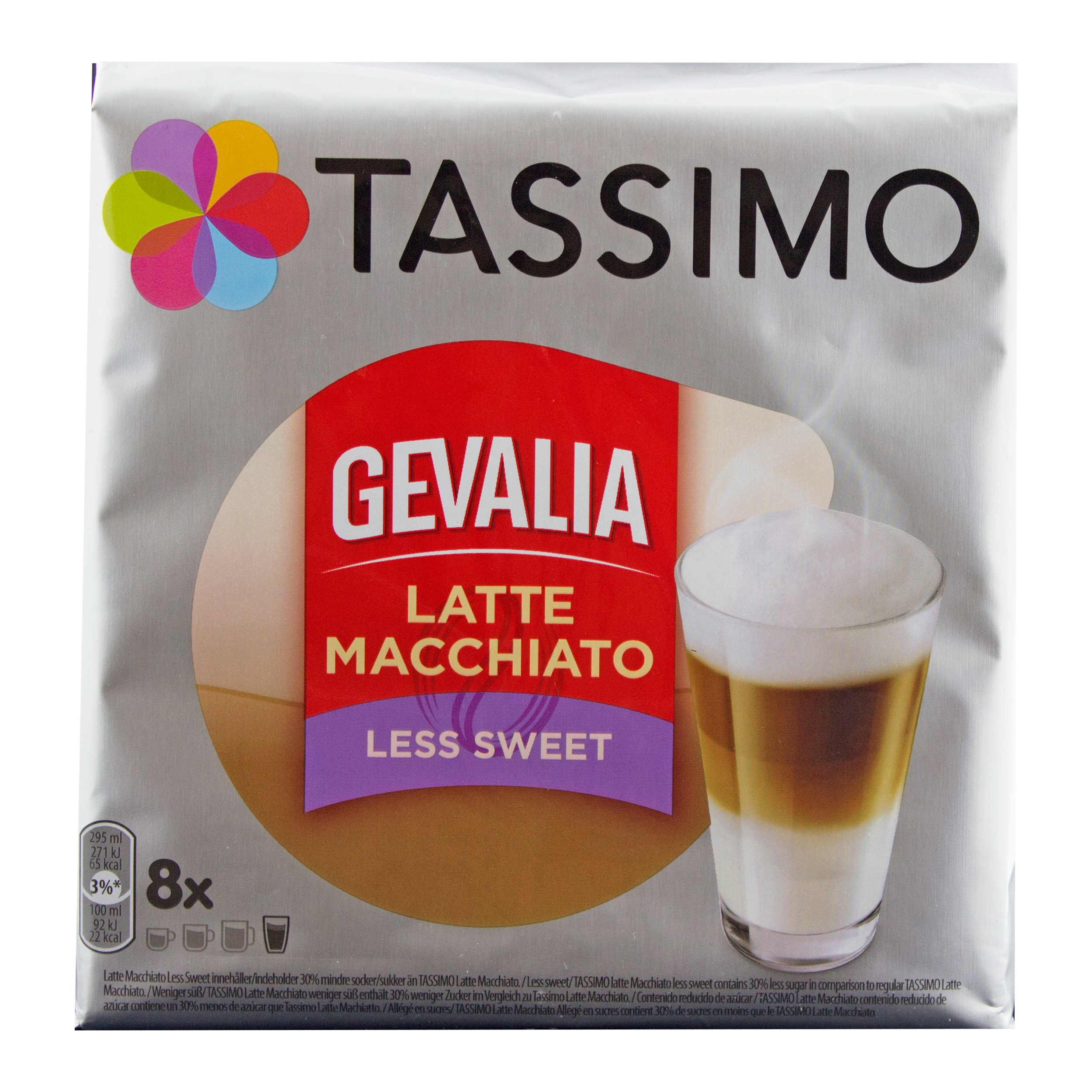 Tassimo Gevalia Latte Macchiato Less Sweet, Ground Roast Coffee, Capsule, 8  T-Discs at About-Tea de Shop